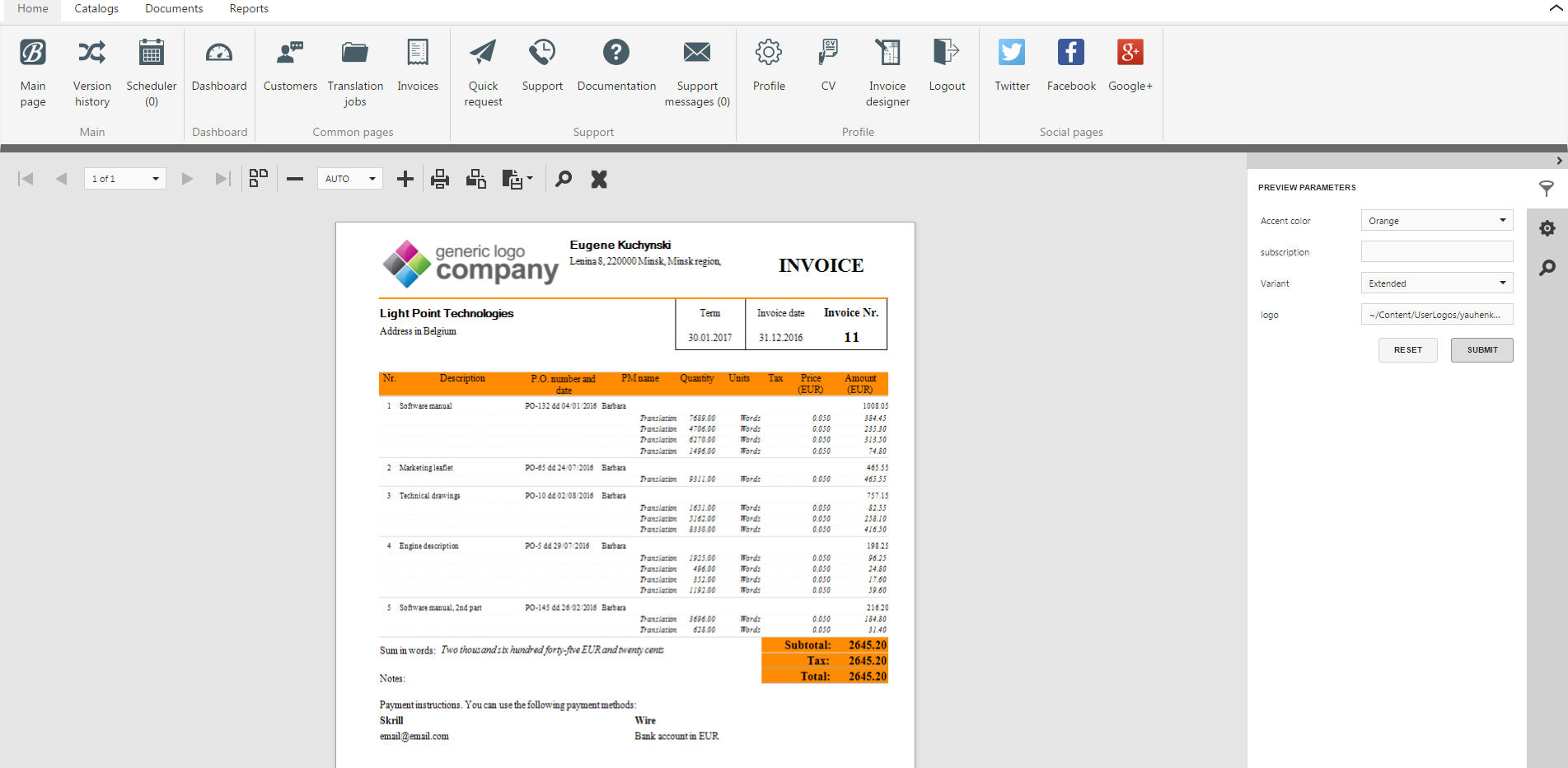 contractor invoice template word contractor invoice template lance dashboard project management crm software by nextloop lance invoices