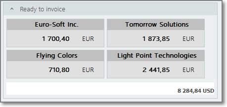Quick invoice creation in translation project management software
