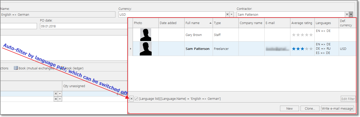 Translation assignment in BaccS - translation project management tool